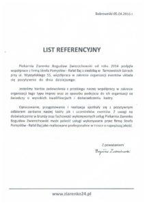 Referencje Piekarnia Ziarenko
